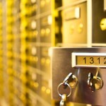 safety deposit box open with key